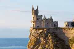 Castle Swallow's nest on a cliff Stock Photo