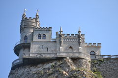 The castle swallow's nest in Crimea. An ancient castle, a magnificent Palace, impregnable fortress on the rock Royalty Free Stock Photography