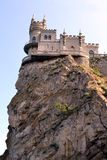 The castle swallow's nest in Crimea. An ancient castle, a magnificent Palace, impregnable fortress on the rock royalty free stock image