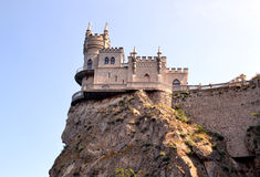 The castle swallow's nest in Crimea. An ancient castle, a magnificent Palace, impregnable fortress on the rock Stock Photography