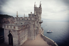 Castle the Swallow's nest in the Crimea Stock Image