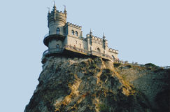 Castle Swallow`s Nest. Is one of the most beautiful architectural and natural places of Crimea royalty free stock photo