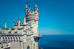 The castle Swallow's Nest on the rock. In the Black Sea in Crimea, Russia Stock Photos