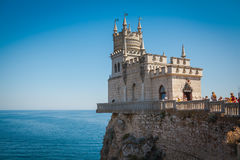 The castle Swallow`s Nest on the rock. In the Black Sea in Crimea, Russia Royalty Free Stock Image