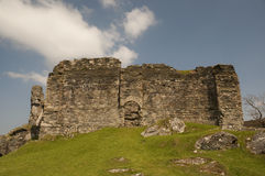 Castle Sween. General view of Castle Sween, North Knapdale, Argyll, a ruinous structure dating from around the 12th century Royalty Free Stock Image