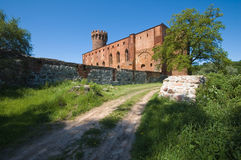 Castle in Swiecie, Poland. Medieval Teutonic Order castle in Swiecie, Poland Stock Image