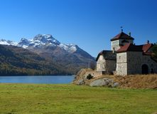 Castle in Switzerland stock photography