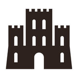 Castle symbol Royalty Free Stock Images