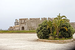Castle Syracuse. Dockside castle of the historical ancient times Syracuse in Sicily, Italy Stock Photos