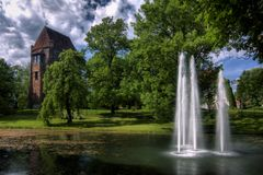 Castle in Szamotuly Stock Photography