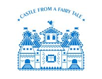 Castle from tale Royalty Free Stock Images