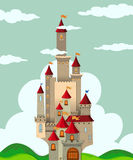 Castle with tall towers Stock Photography