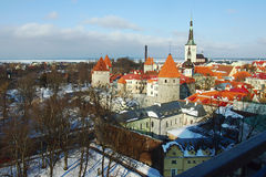 A Castle in Tallin Royalty Free Stock Photos