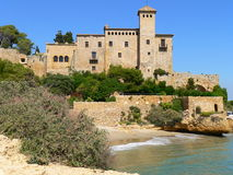 Castle, Tamarit (Spain ). View of Tamarit castle, in Tarragona Royalty Free Stock Photography