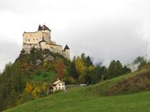 Castle Tarasp In The Autumn Royalty Free Stock Photo