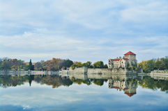 The castle in Tata, Hungary. Royalty Free Stock Photo