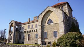 Castle in Tata, Hungary in a sunny summer day royalty free stock photography