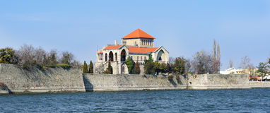 Castle of Tata with the lake Royalty Free Stock Photo
