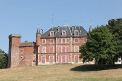 Castle of Tavernost in the Dombes Royalty Free Stock Images