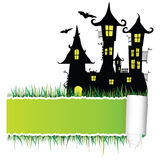 Castle with tearing paper illustration Royalty Free Stock Photo