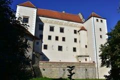 Castle Telc,Czech republic. The Telc Chateau ranks among the gems of Moravian Renaissance architecture. Czech Republic, World Heritage Site by UNESCO Stock Images