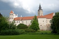 Castle in the Telc,Czech republic Stock Photo