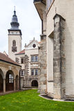Castle in Telc, Czech Republic. Telc, Czech Republic. Unesco city, Old XVI century castle build in gothic style Stock Image