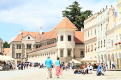 Castle in Telc stock photos