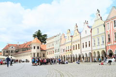 Castle in Telc royalty free stock photography