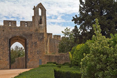 The castle Templars in Tomar Stock Images