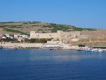 Castle of Tenedos royalty free stock images