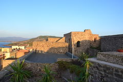 Castle terrace - Castelsardo, Sardinia, Italy Stock Images