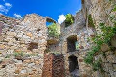 Castle in Terebovlia. Ruins of castle in Terebovlia town, Ukraine Stock Images