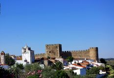 Castle of Terena village. Alentejo region, Portugal Royalty Free Stock Photos