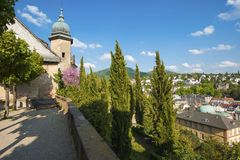 Castle terrace of the new castle in Baden-Baden Royalty Free Stock Image