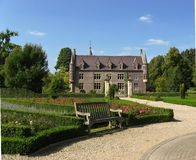 Castle Terworm and its garden. Castle Terworm and its adjacent gardens stock image