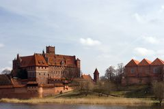 castle of the Teutonic Knights Malbork - Poland Royalty Free Stock Photo