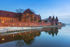 The Castle of the Teutonic Order in Malbork Royalty Free Stock Photo