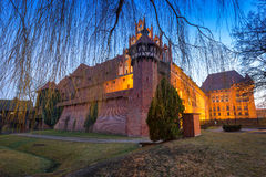 The Castle of the Teutonic Order in Malbork Stock Photo