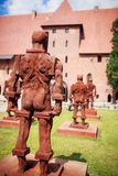 Castle of the Teutonic Order in Malbork Stock Images