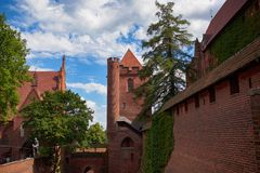 Castle of the Teutonic Order in Malbork Royalty Free Stock Photos