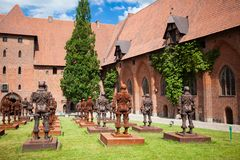 Castle of the Teutonic Order in Malbork stock photos