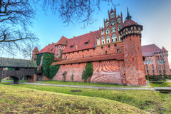The Castle of the Teutonic Order in Malbork at sunset Stock Image