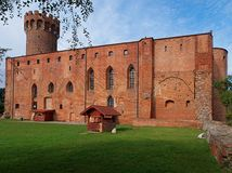 Castle of the Teutonic Order in Swiecie 2. The historic, fortified castle in Swiecie the Vistula River Royalty Free Stock Photography