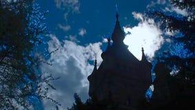 Castle Tägerwilen. Switzerland. Lighting lock the sun from the rear side. Accelerated video. stock footage