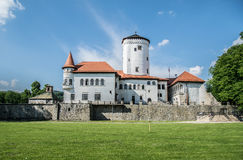 Castle of 13th century. Piece of the history. Budatin castle in Slovakia Stock Images