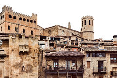 Castle from the 14th century in Valderrobres town Royalty Free Stock Images