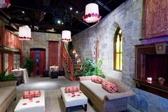 Castle theme lounge Royalty Free Stock Photo