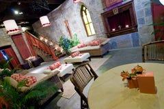 Castle theme restaurant royalty free stock image