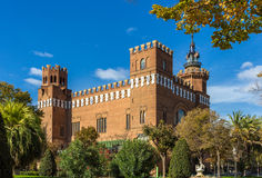 Castle of the Three Dragons in Barcelona Stock Images